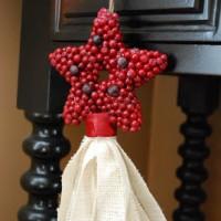 Cranberry Star Tassel