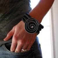 Black Zipper Bracelet