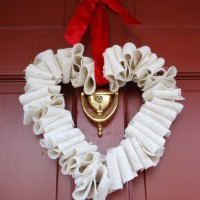 Burlap Heart Wreath TUTORIAL