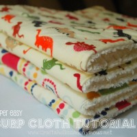 super duper easy burp cloth TUTORIAL