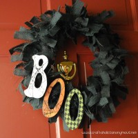 BOO wreath TUTORIAL