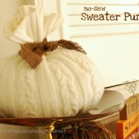 Sweater Pumpkin TUTORIAL {no-sew!}