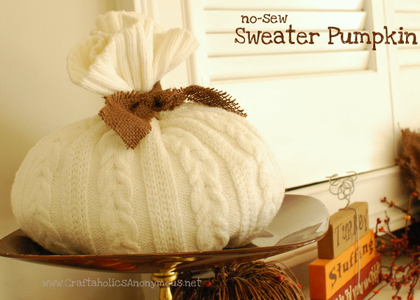 how to make a sweater pumpkin