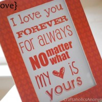 Valentine's Day Printable Gift or Card idea