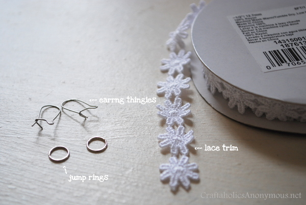 how to make lace earrings