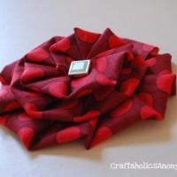 pleated fabric flowers TUTORIAL