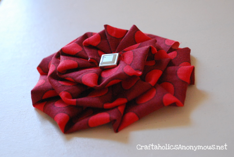 How To Make A Pleated Fabric Flower