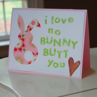 Bunny Butt Easter Card