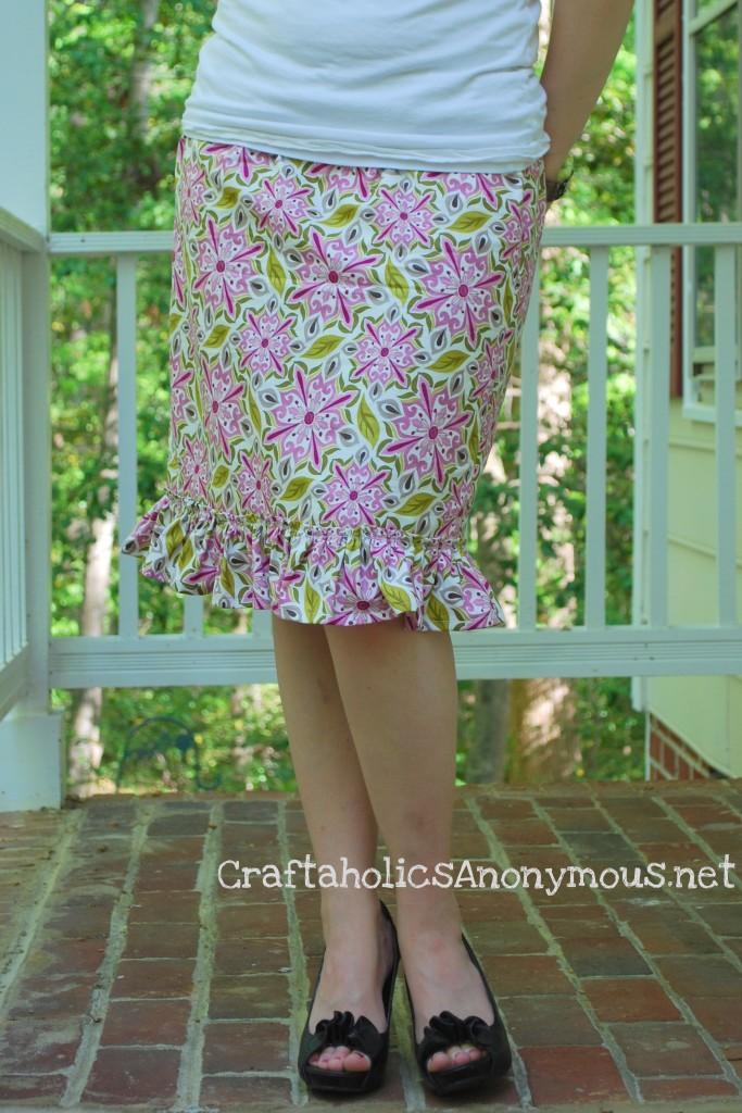 Easy Ruffled Easter Skirt