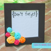 How to Make a rosette memo board TUTORIAL