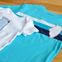 Onesie/T-shirt Applique TUTORIAL {from Lil Mama Stuart}