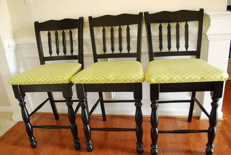 Upholster The Seat Of Your Dining Room Chairs Here S How I