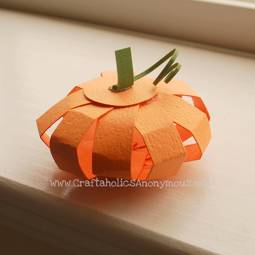 how to make a paper pumpkin