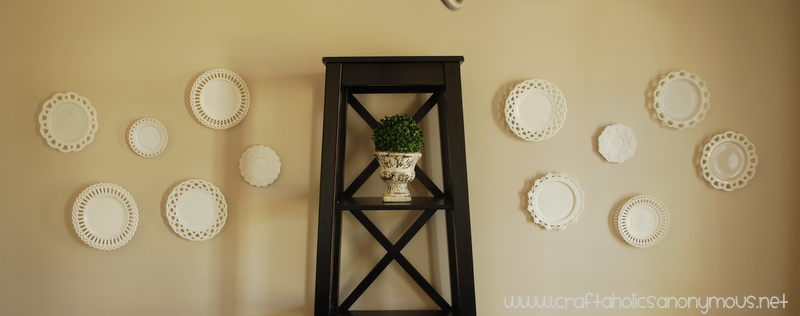 milk glass plate wall