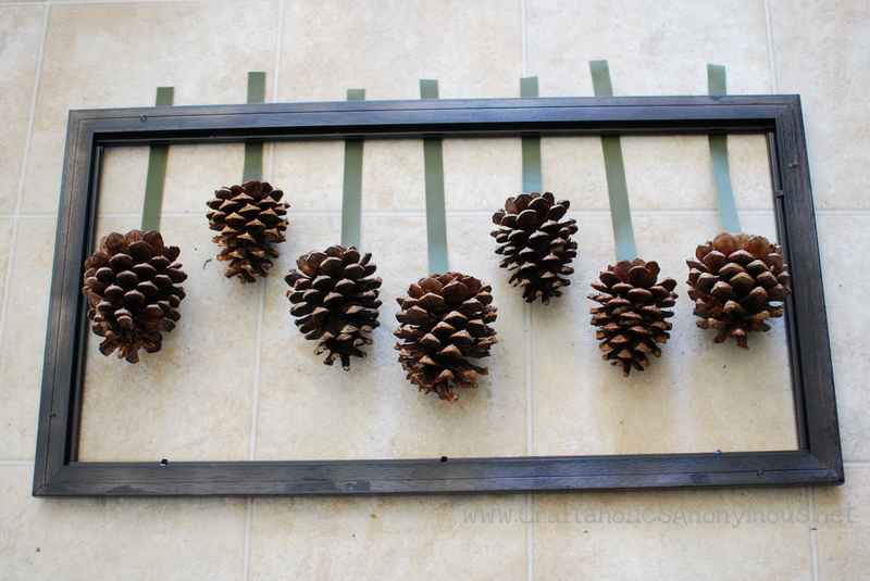 tutorial for pine cone winter or fall craft