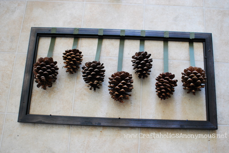 instructions for fall or winter craft decoration