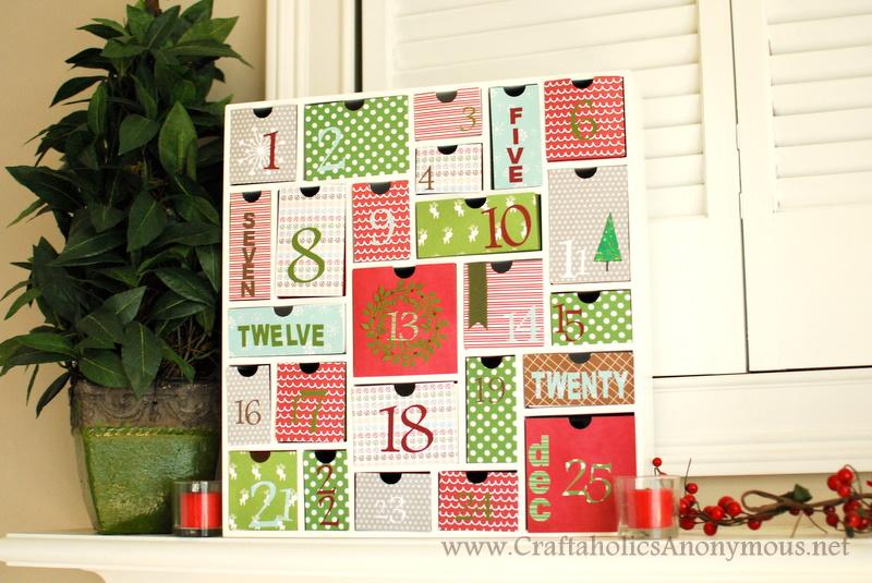 holiday advent craft idea