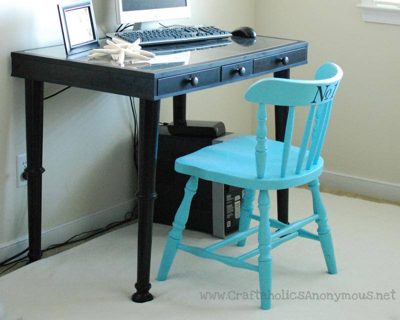 easy desk makeover