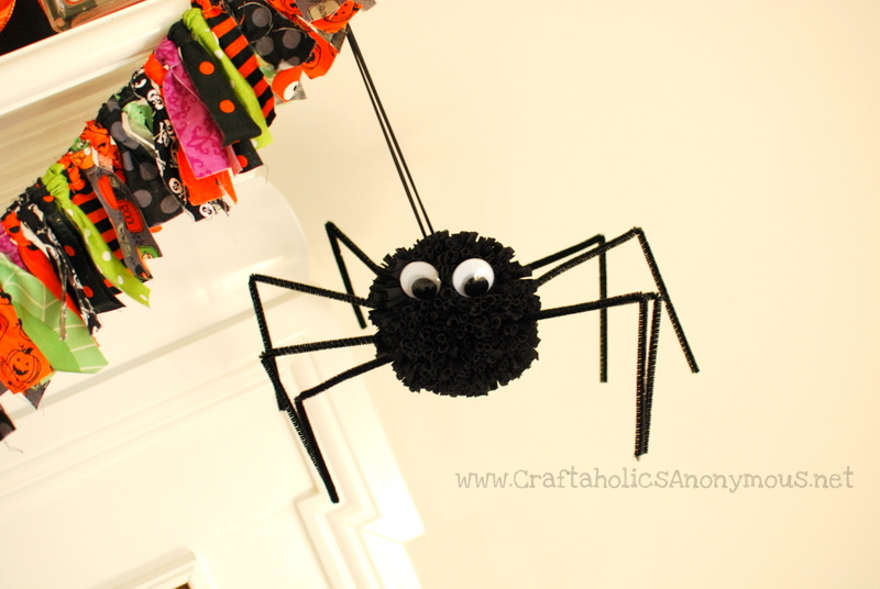 spider, craft, pom pom