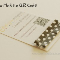 how to make a QR code for your business card!