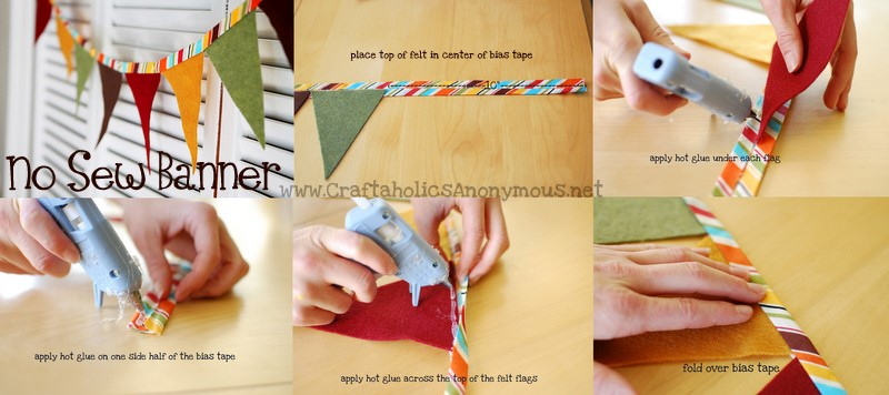 easy no sew fabric banner