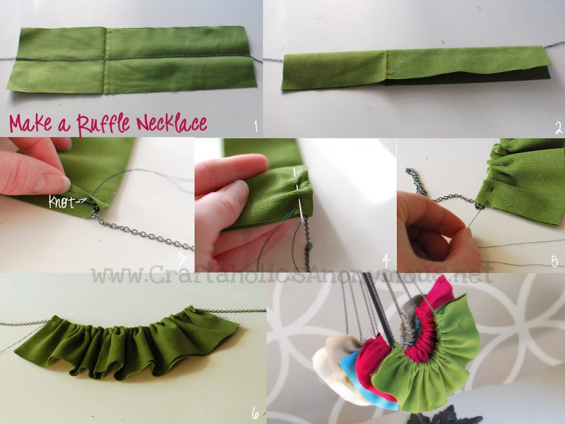 how to make a ruffle necklace