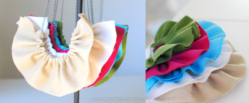 ruffle necklace craft kit
