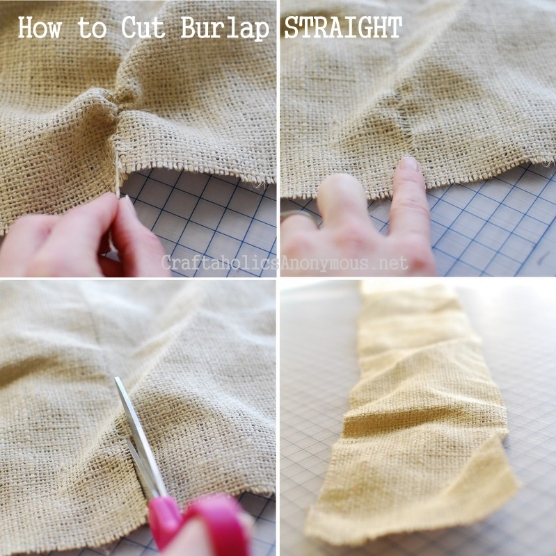 cut burlap straight