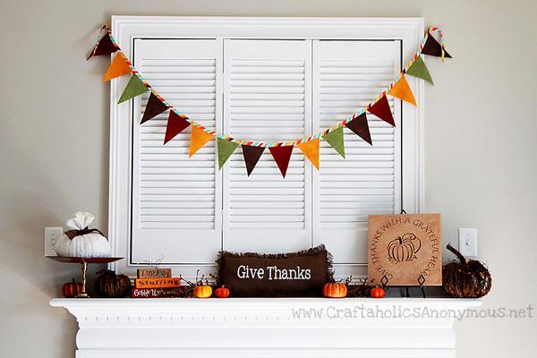 decorations for a autumn harvest mantelscape craft ideas