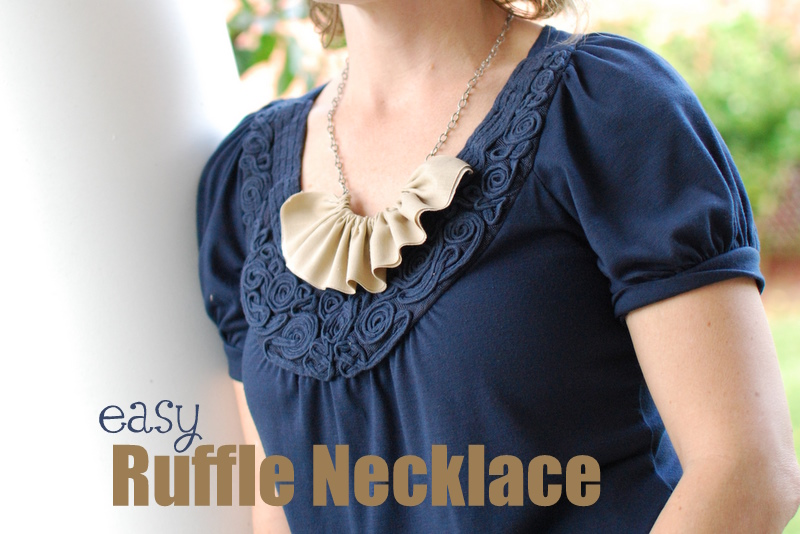 fabric ruffle necklace