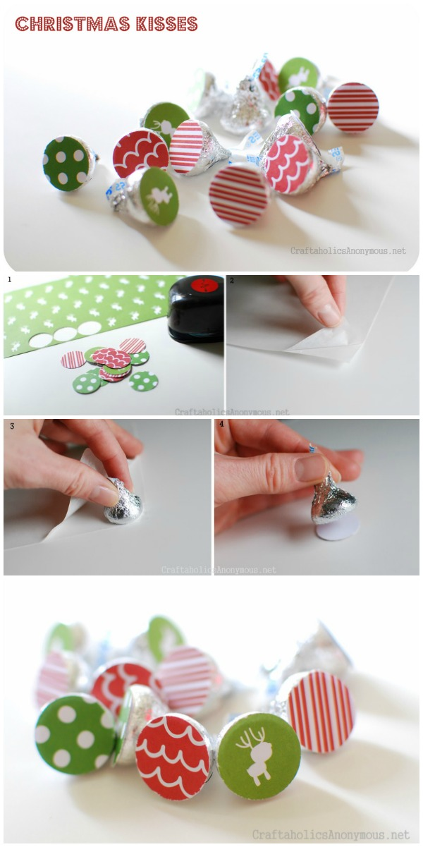 Christmas Kisses Craft idea. So easy to do!