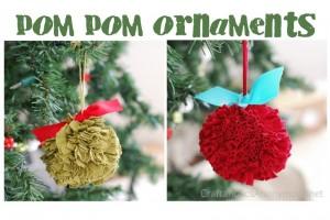pom pom ornaments