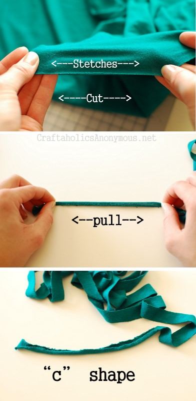 how to cut fabric for a pom pom