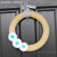 Snowey Winter Wreath + Batting Flower TUTORIAL!