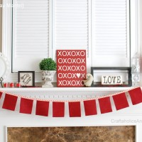 Valentine's Day Mantel + February craft kit
