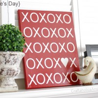 XOXO Canvas TUTORIAL + Free PRINTABLE!!