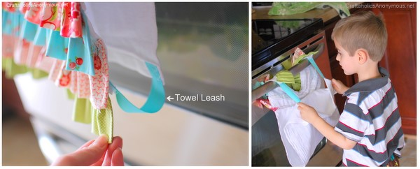 how to make a towel stay in place