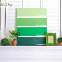 St. Patrick's Day Mantel + Paint Chip Canvas TUTORIAL