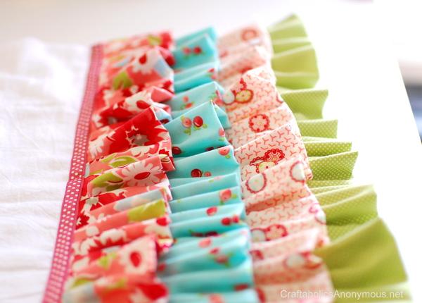 ruffled fabric