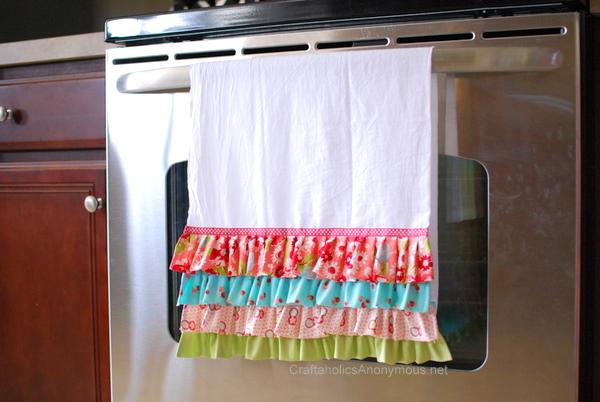 DIY ruffle hand towel