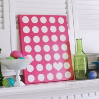 Polka Dot Canvas + FREE Printable!