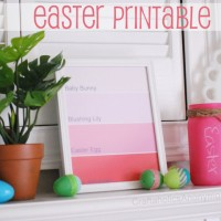 Free Easter Paint Chip Printable!