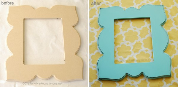 how to paint a picture frame