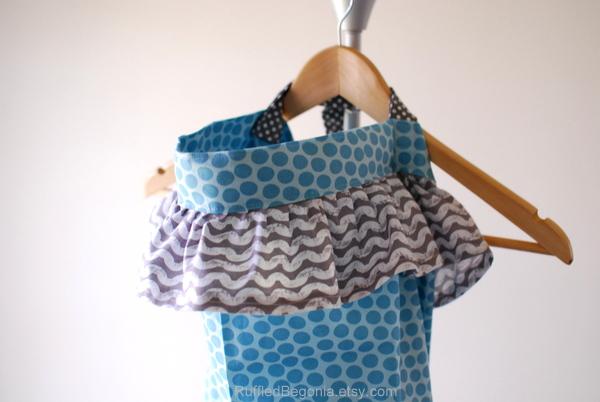 ruffled breastfeeding cover