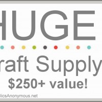 Craft Supply GIVEAWAY! {$250+ value}