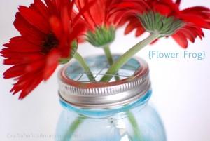 mason jar flower lid