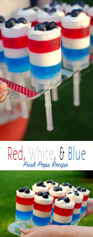 Yummy 4th of July Push up pops! Red, White, and Blue recipe