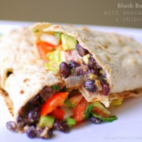 Black Bean Wraps with Avocado Salsa recipe