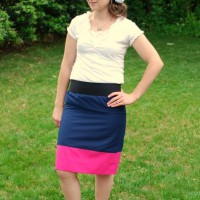 How to Sew a Color Block Skirt TUTORIAL