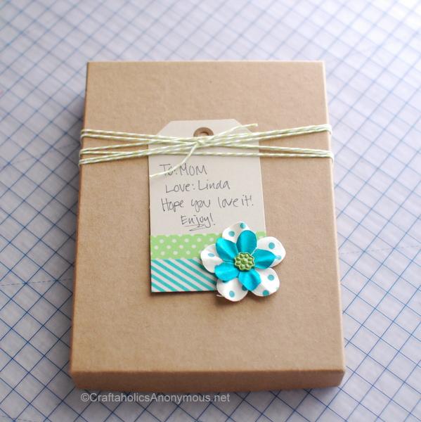 washi tape gift tag